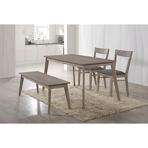 Set τραπεζαρίας οικονομικό με 2 καρέκλες / 1 πάγκο και 1  τραπέζι