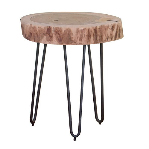 coffee table wood natural,Τραπεζάκι σαλονιού από φυσικό ξύλο και μεταλλική βάση