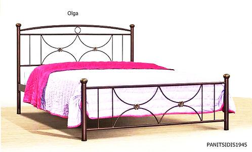 διπλό μεταλλικό κρεβάτι για στρώμα 150Χ200 οικονομικό σε προσφορά