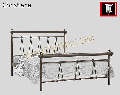 διπλό σιδερένιο-μεταλλικό κρεβάτι για στρώμα 140 Χ 200,σιδερένιο διπλό κρεβάτι με χειροποίητες λεπτομέρειες