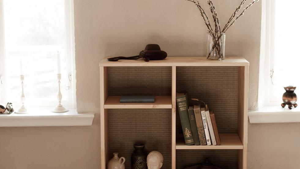 ξύλινη Ιαπωνική ραφιέρα για το καθιστικό ή την κρεβατοκάμαρα