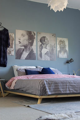 Senza Bed / Διπλό Ξύλινο Κρεβάτι