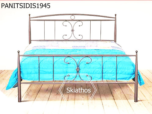 μονό μεταλλικό κρεβάτι για στρώμα 90 Χ 190/200 οικονομικό για οικίες, ξενοδοχεία,ενοικιαζόμενα