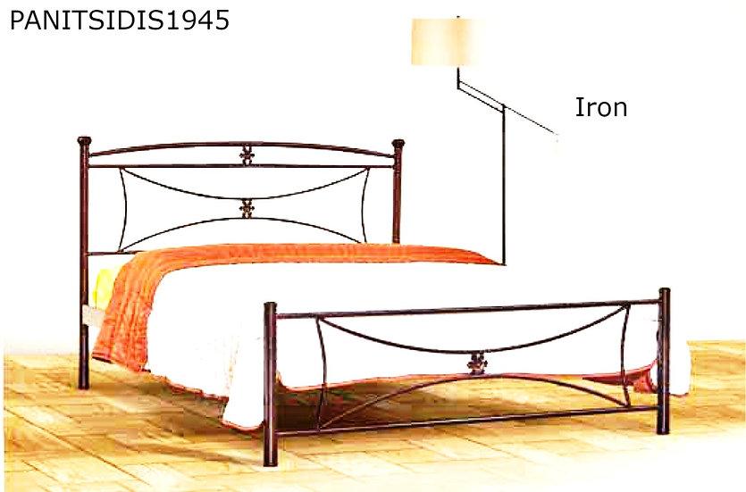 διπλό μεταλλικό κρεβάτι 140Χ200 εκ.Ειδική προσφορά.