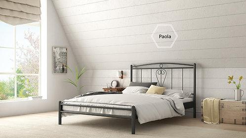 διπλό μεταλλικό κρεβάτι για στρώμα 150Χ200 σε ποικιλία χρωμάτων κλασσικό σχέδιο χειροποίητη κατασκευή