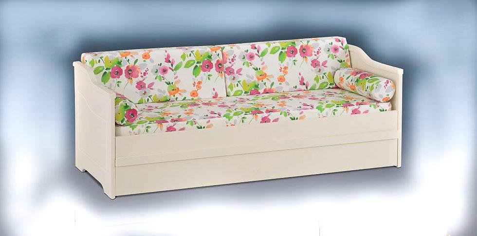 καναπές κρεβάτι από ξύλο με συρόμενο μηχανισμό και 2 στρώματα, σε πολλά χρώματα