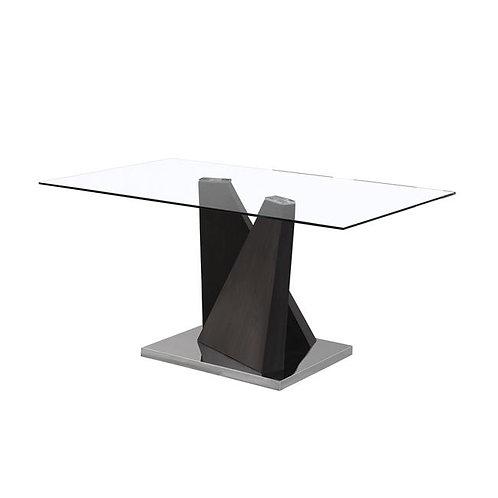 trapezi xsilinos skeletos kai gialino kapaki,τραπέζι τραπεζαρίας με γυαλί και ξύλινο σκελετό