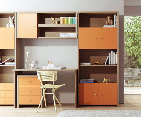 Kalimnos / σετ γραφείου-βιβλιοθήκης