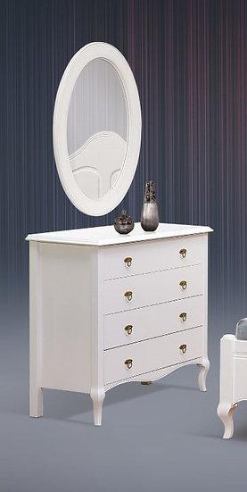 σετ τουαλέτας με καθρέπτη κλασσική γραμμή σε λευκή πατίνα και πολλά άλλα χρώματα