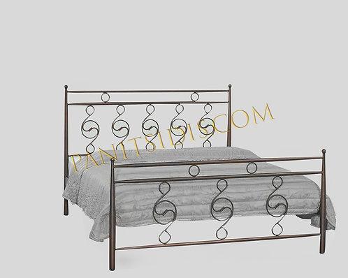 διπλό μεταλλικό κρεβάτι 140Χ200 για airbnb, hotel, studios