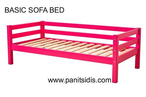 παιδικό κρεβάτι με πλάτη από μασίφ ξύλο σε διάφορα χρώματα