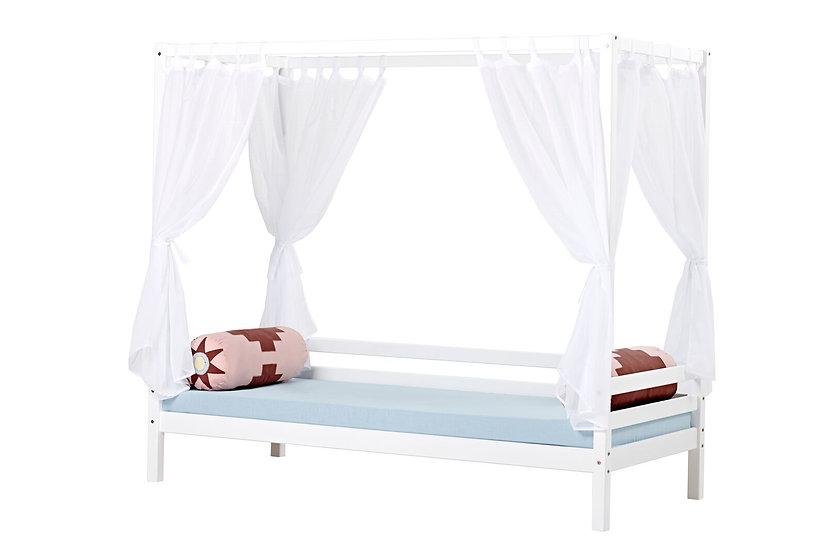 σετ κουρτινών σε διάφανο ύφασμα για το κρεβάτι με ουρανό
