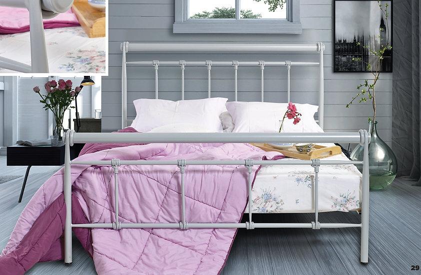 Διπλό μεταλλικό κρεβάτι140x200 στιβαρή κατασκευή σε πολλά χρώματα