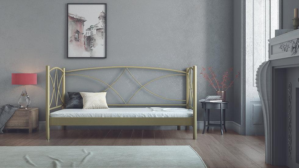 μεταλλικός καναπές-κρεβάτι