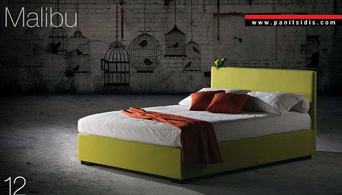 διπλό ντυμένο κρεβάτι για στρώμα 150Χ200 εκ., σε πολλά χρώματα υφάσματος
