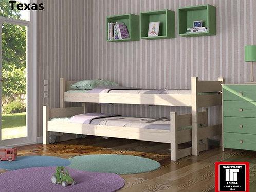 ημίδιπλη συρόμενη χαμηλή κουκέτα ξύλινη με 2 κρεβάτια,διπλό συρόμενο παιδικό κρεβάτι οξιά