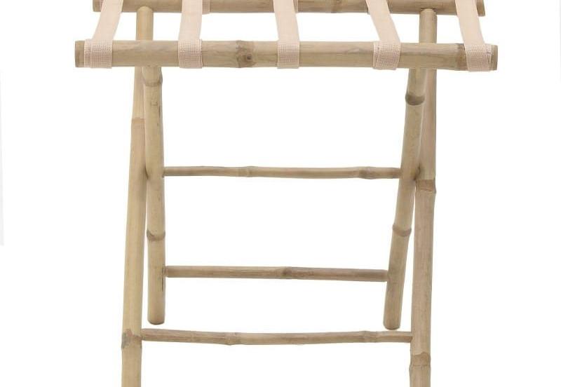χειροποίητη βάση από bamboo για αποσκευές
