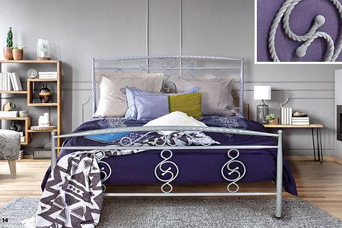 Διπλό μεταλλικό κρεβάτι 150/160x200 στιβαρή κατασκευή σε πολλά χρώματα