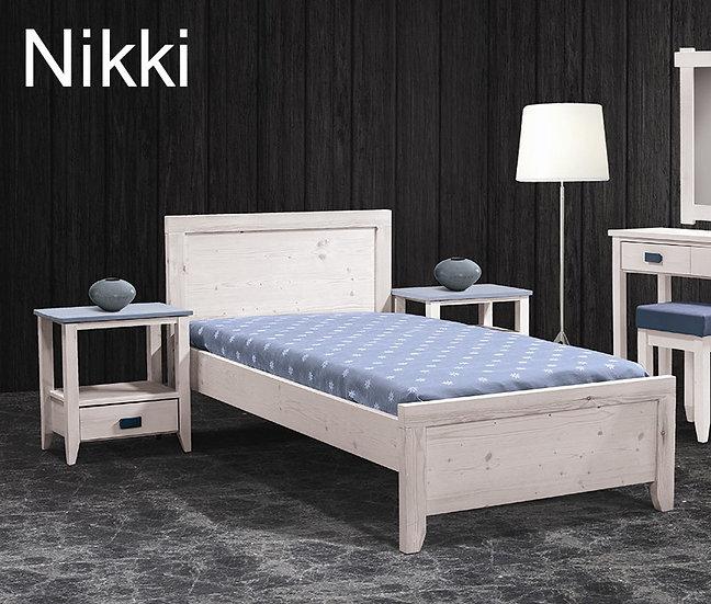 μονό ξύλινο κρεβάτι για οικίες ή ξενοδοχεία/studios παράγεται σε πολλά χρώματα