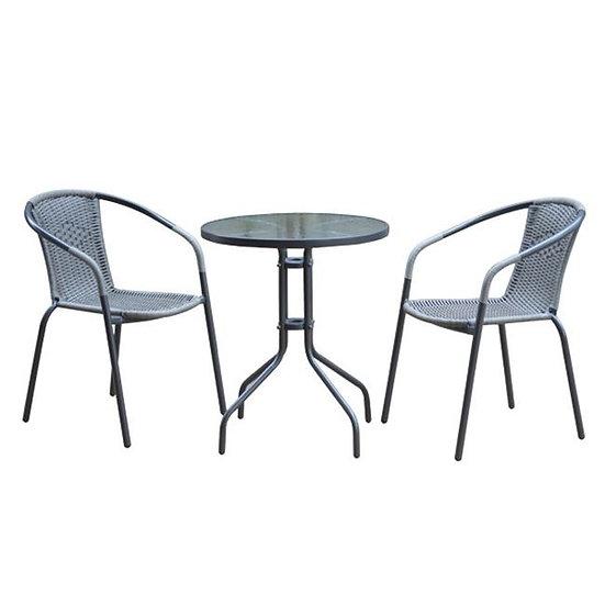 Οικονομικό Σετ βεράντας / τραπέζι και 2 πολυθρόνες