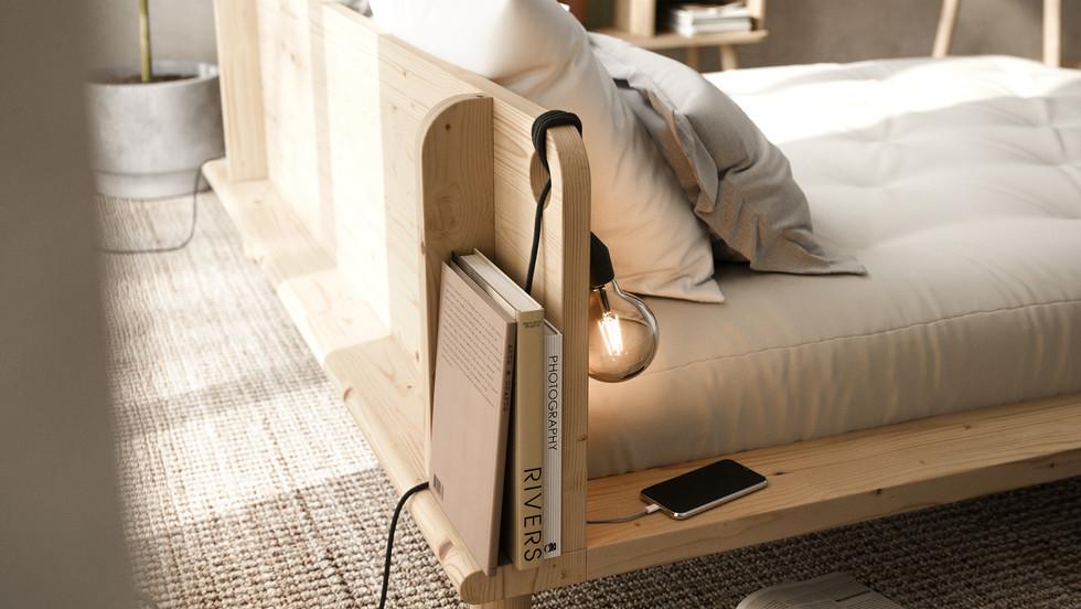 κρεβάτι πλατφόρμα διπλό μασίφ ξύλο 140Χ200