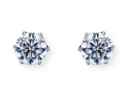 PT900 ダイヤモンド一粒ピアス 0.5ct