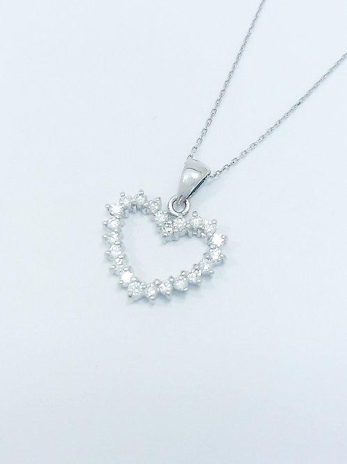 PT ダイヤモンドオープンハートネックレス