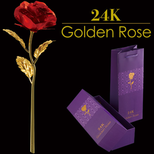 24K 金箔のバラ