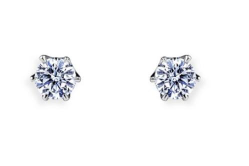 PT900 ダイヤモンド一粒 ピアス 0.2ct