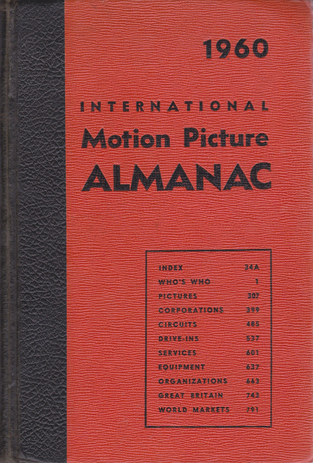1960 MOTION PICTURE ALMANAC | PAGE SCANS