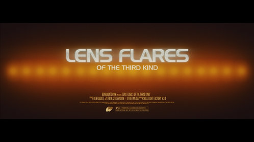 LENS FLARES OF THE THIRD KIND | lens flare pack
