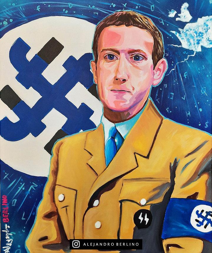 mark zuckerberg hitler nazi painting alejandroberlino