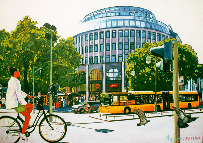 Kurfurstendam schonenberg berlin mitte painting by Alejandro Berlino