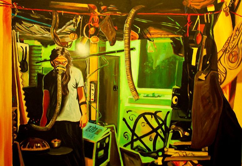 enzo painting berlin artist drummer alejandroberlino