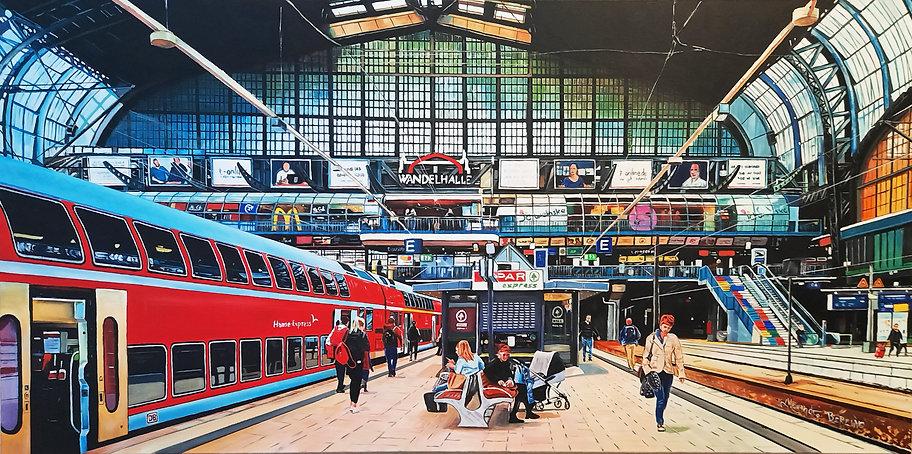 Deutsche Bahn painting hamburgh hauptbahnhof alejandroberlino