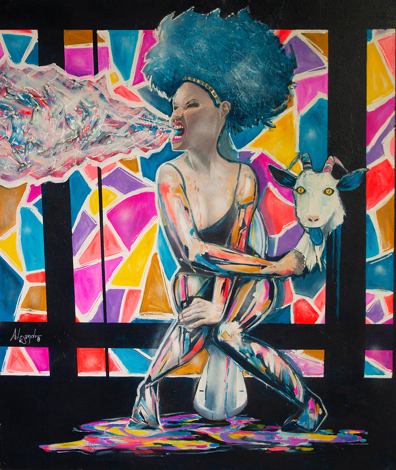 MODERN ART PAINTING alejandroberlino acrylic