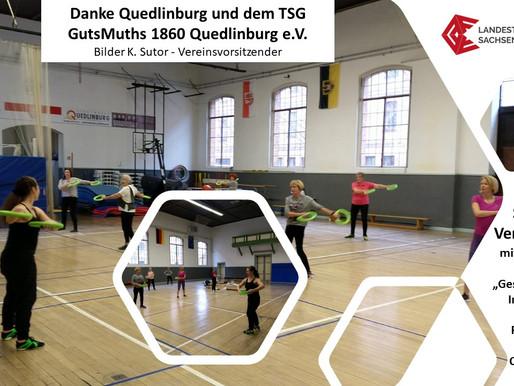 """Smovey-Veranstaltung mit potentiellem Start """"Gesundheitssport in ländlichen Regionen"""" in Quedlinburg"""