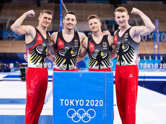 Podiumstraining vor den Olympischen Spielen