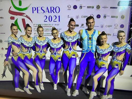 Toller 7. Platz bei für Dance-Team bei Aerobic-EM in Pesaro