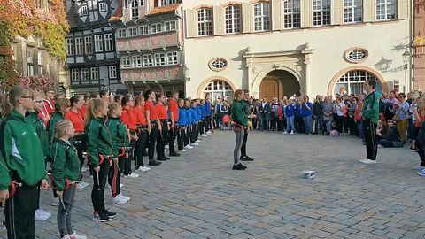 Auftritt der Nachwuchsspielleute am 12.10.19 in Quedlinburg