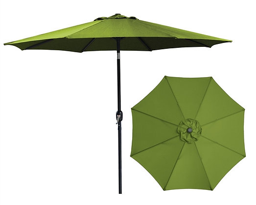 Seasonal Trends Crank Umbrella, 9' W, Olive Green