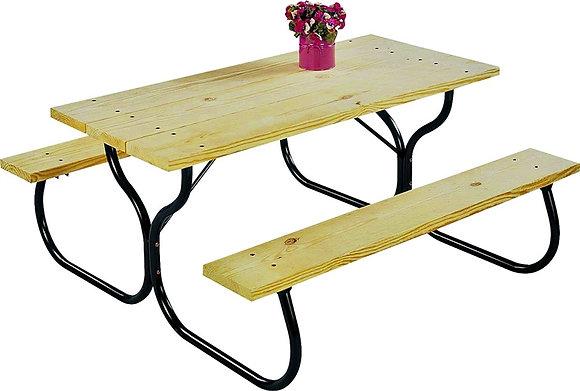 Jack Post Table Frame Kit, Black Steel