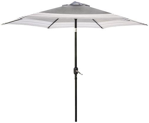 Seasonal Trends 9 Ft Tilt/Crank Market Umbrella, Black/Tan