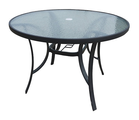Seasonal Trends Glass Top Round Table 42 in