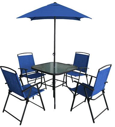 Seasonal Trends Olympia Patio Set w/ Folding Chair, 6 Pc