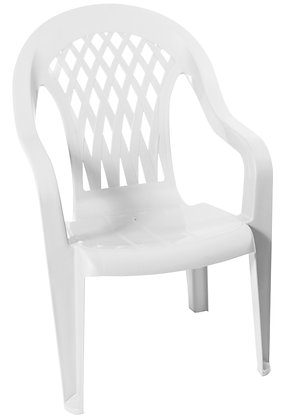 Gracious Living High-Back Chair, White