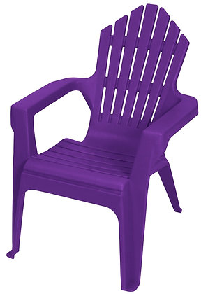 Gracious Living Kiddie Adirondack Chair, Purple Iris