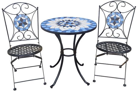 Seasonal Trends Bistro Mosaic Dining Set, Steel
