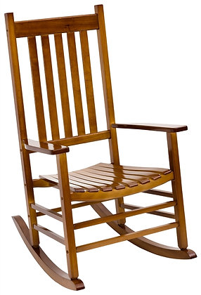 Seasonal Trends Porch Rocking Chair, Natural Hardwood
