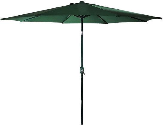 Seasonal Trends Crank Umbrella,9' W, Hunter Green